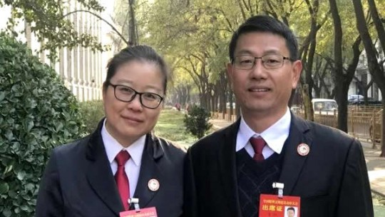 首对法援伉俪陈贤曹旭当选全国道德模范